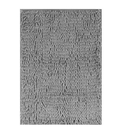 EEEKit Bathroom Rug Carpet, Non Slip Absorbent Soft Microfiber Shaggy Bath Mats, Toilet Shower Floor Carpet Cushion Mat Machine Washable for Door, Bathroom, Kitchen ()