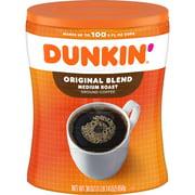 Dunkin' Donuts Original Blend, Medium Roast Coffee, 30-Ounce Canister