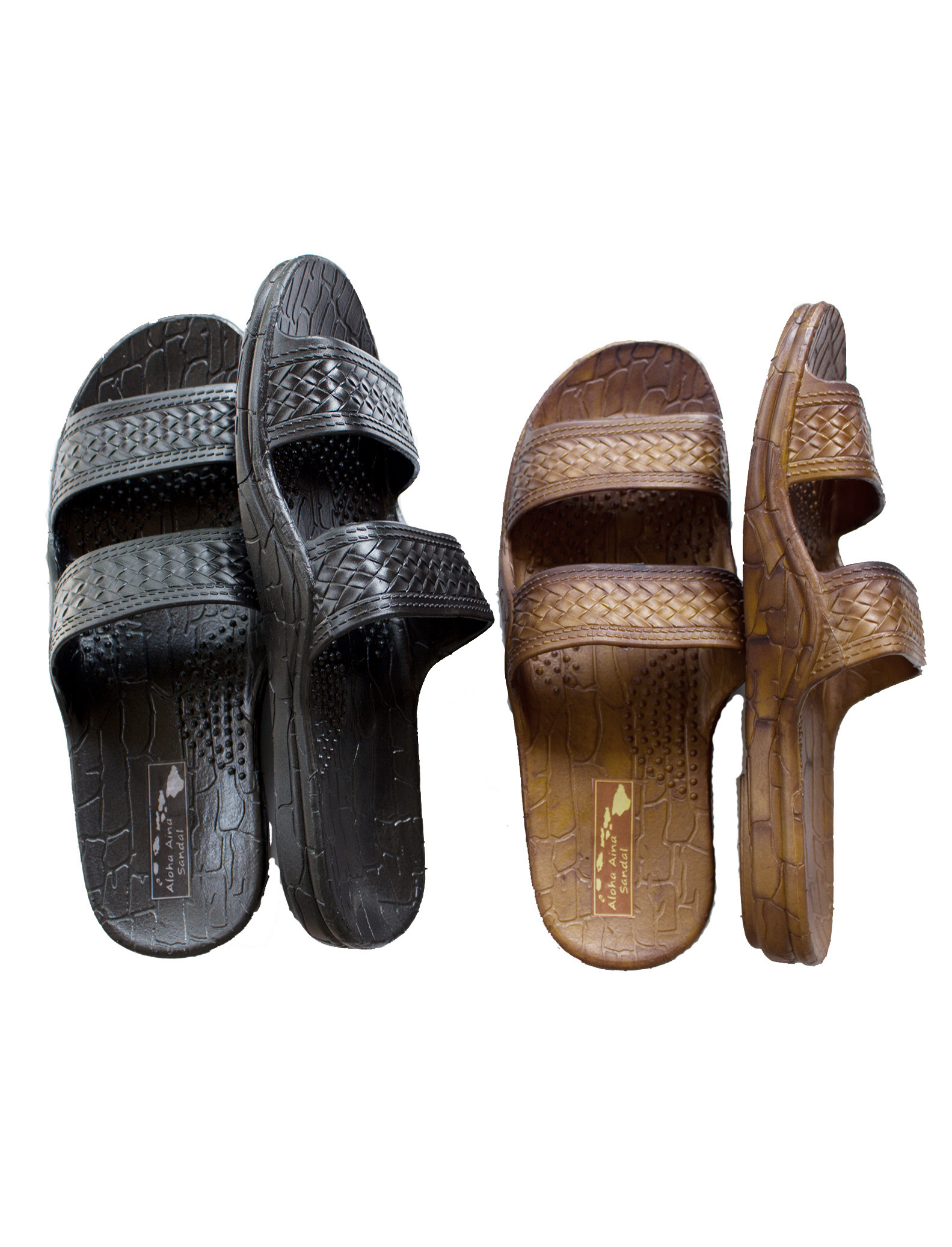 e1943458e Aloha Aina Sandal - Hawaii Brown and Black Jesus Sandals for Kids ...