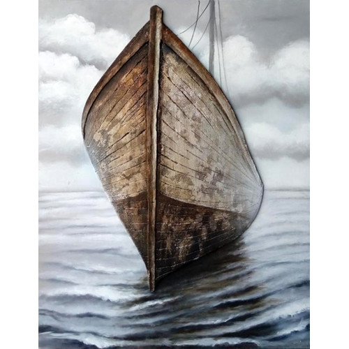 HDC International 3D Boat Graphic Art on Wrapped Canvas