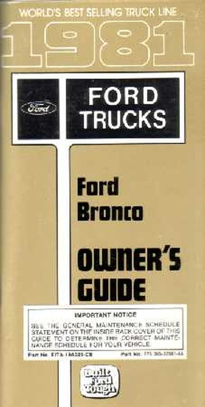 bishko oem maintenance owners manual bound  ford truck