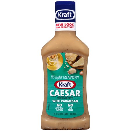 (3 Pack) Kraft Caesar Vinaigrette with Parmesan Dressing, 16 Fl Oz - Kraft Bottle