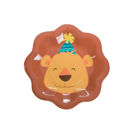 Fun Express - 1st Zoo Dessert Plates (8pc) for Birthday - Party Supplies - Print Tableware - Print Plates & Bowls - Birthday - 8 Pieces (Zoo Plates)