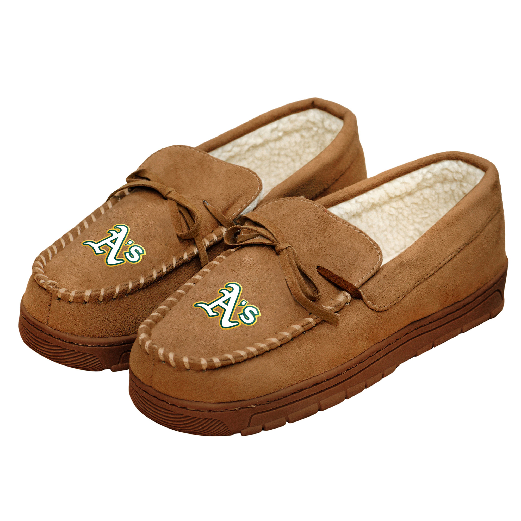 Oakland Athletics Moccasin Slippers