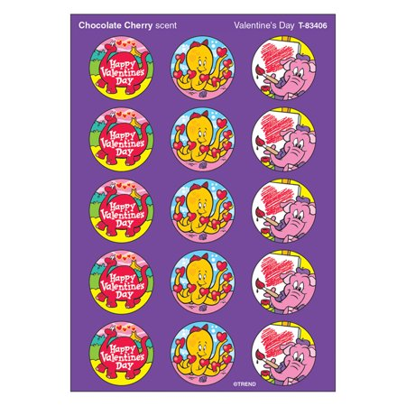 STINKY STICKERS VALENTINES 60/PK DAY CHOCOLATE CHERRY ACID-FREE](Valentine Stickers)