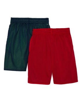 Athletic Works Youth 4-18 & Husky Performance Mesh Shorts, 2-Pack
