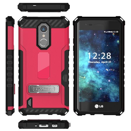 LG Zone 4 Case, Tri-Shield Rugged Cover [with Magnetic Kickstand + Credit  Card Slot + Wrist Strap] for LG Zone 4, Risio 2, Risio 3, Rebel 2, Rebel 3