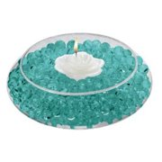 Deco Beads (Turquoise) 8 Ounce Jar Makes 6 Gallons of Decorative Beads Gel Vase Filler