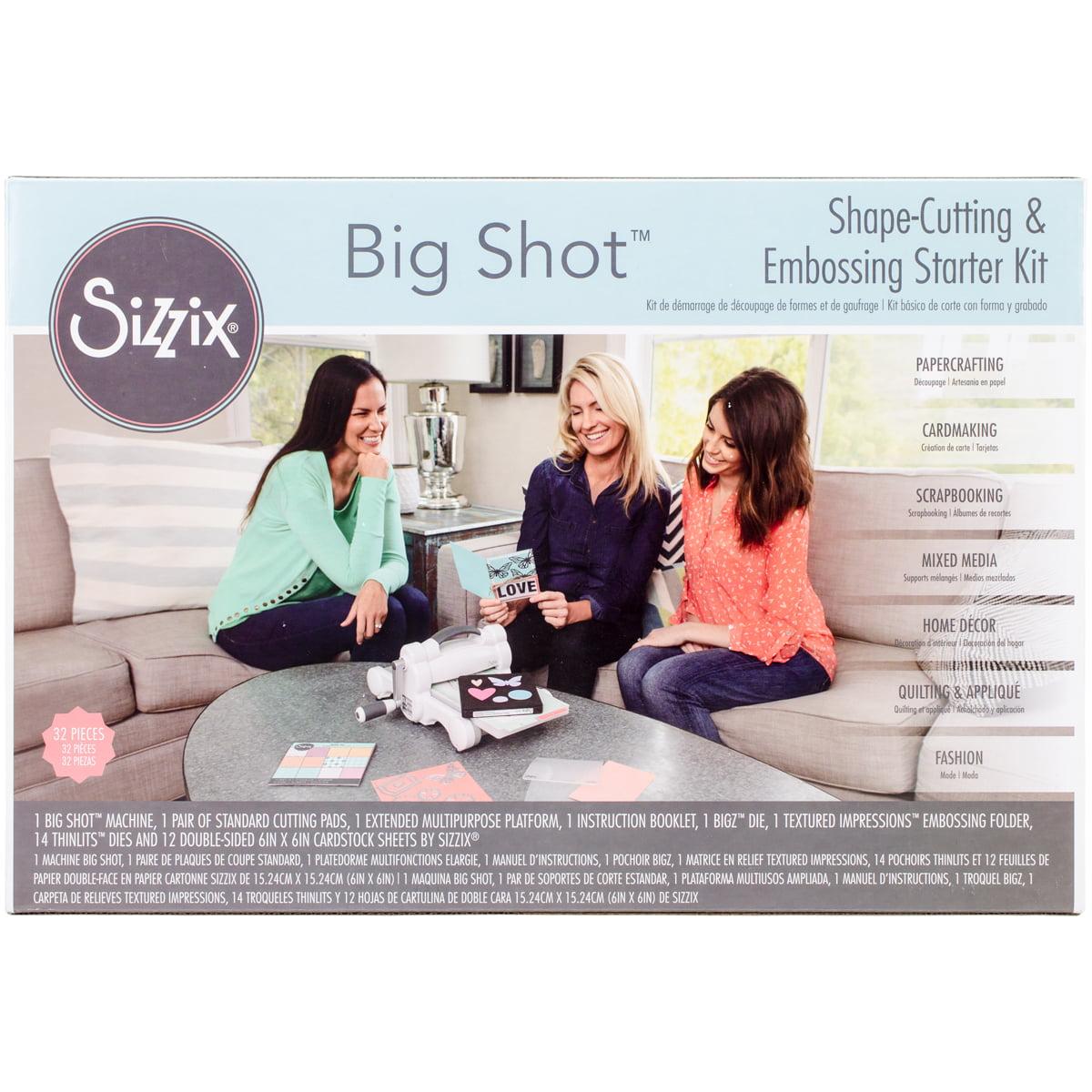 Sizzix Big Shot Starter Kit-White W/Gray