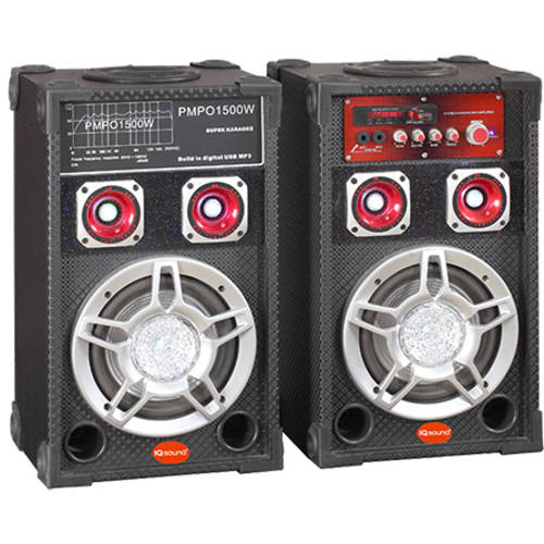 "SuperSonic 6"" Pair of Pro DJ Bluetooth Speakers"