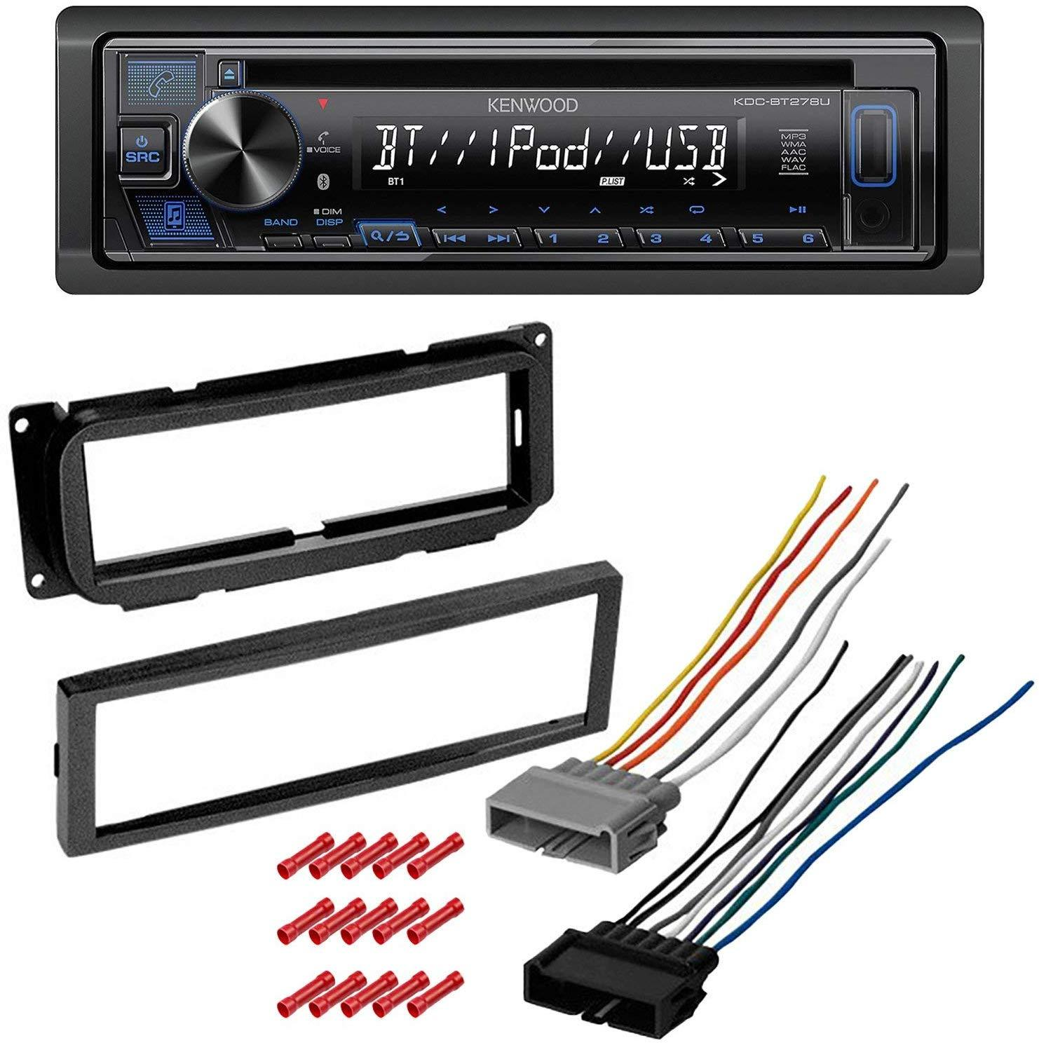 Kit8078 Kenwood Car Stereo With Bluetooth For 2000