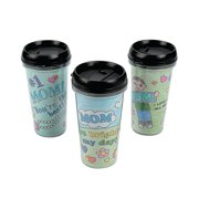 Color Your Own Mom Artist Travel Mugs (6Pc) - Craft Kits - 6 Pieces