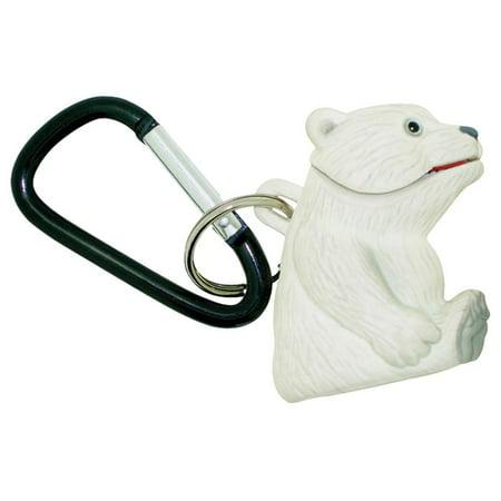 Wildlight Animal Carabiner Flashlight - Polar Bear   Animal Keychain Lights