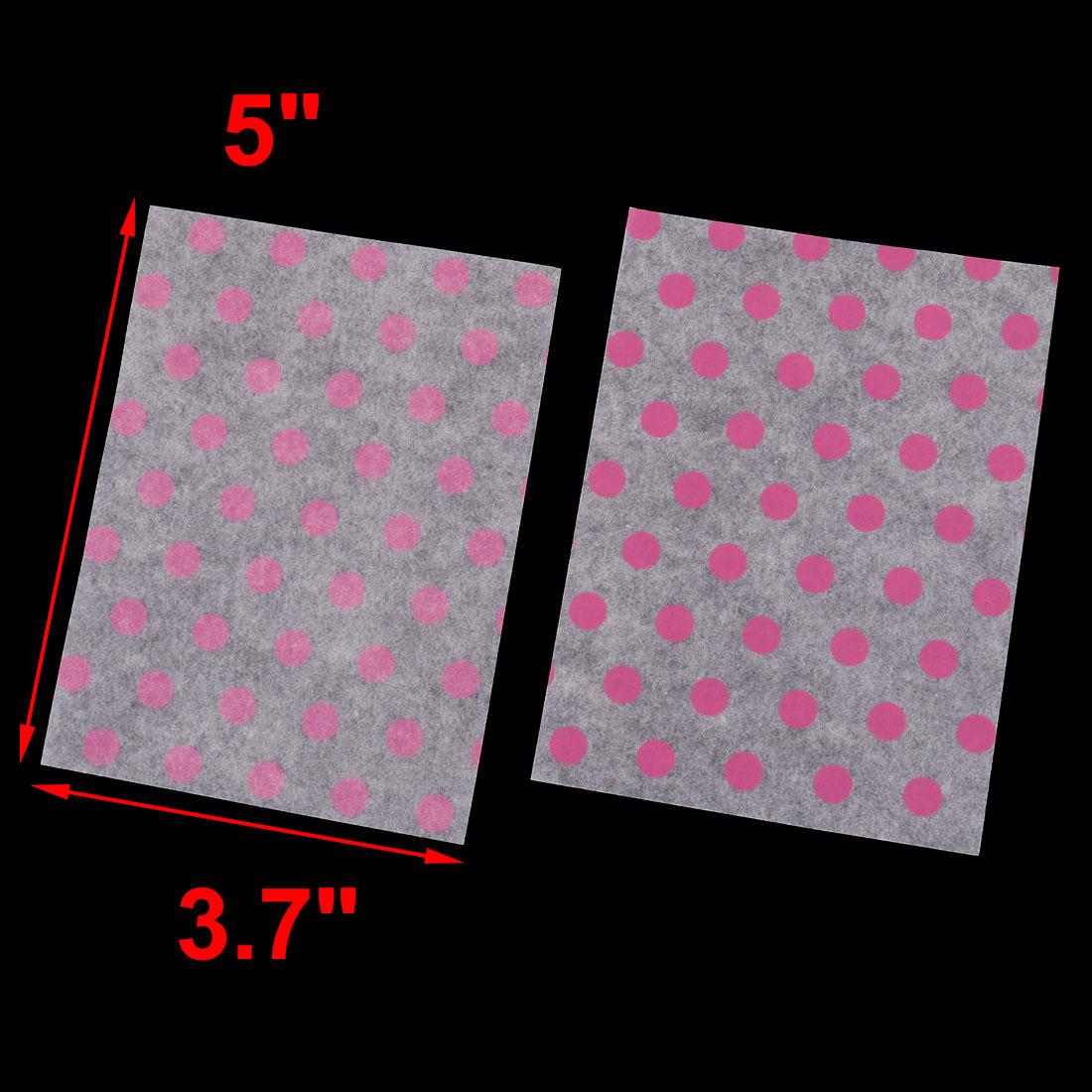 Wedding Washi Paper Dot Print Sugar Candy Cookie Cupcake Wrapping Fuchsia 100pcs - image 1 of 3