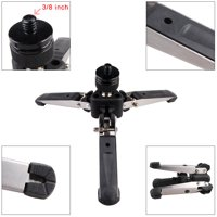 "Universal Three-Foot Support Stand Monopod Base for Monopod Tripod Head DSLR Cameras 3/8"" Screw"