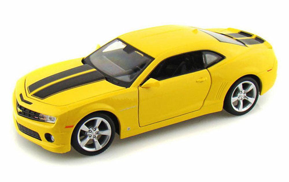 2010 Chevrolet Camaro SS RS, Yellow w  Black Stripes Maisto 31207 1 24 scale diecast model... by Maisto