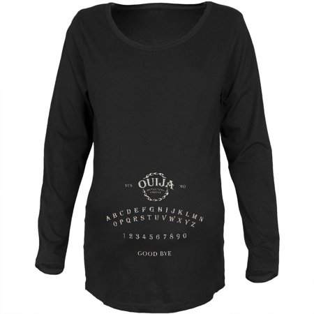 Pregnant Halloween T Shirts (Halloween Ouija Board Costume Black Maternity Soft Long Sleeve)