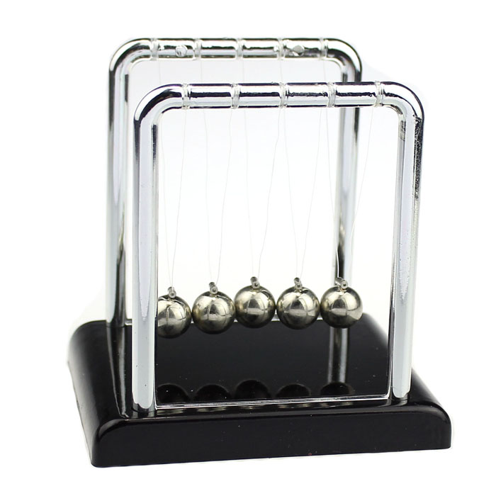 Physics Science Accessory Desk Toy Newton Cradle Steel Balance Ball