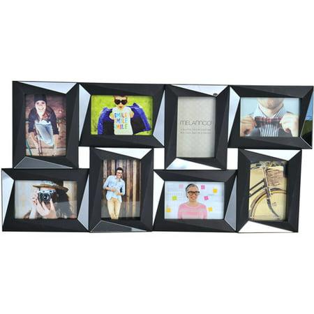 melannco 8 opening dimensional photo collage black picture frame. Black Bedroom Furniture Sets. Home Design Ideas