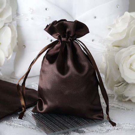 Efavormart 60PCS Satin Gift Bag Drawstring Pouch for Wedding Party Favor Jewelry Candy Solid Satin Bags - 4