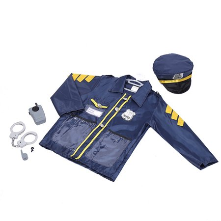 TopTie Child Police Officer Costumes, Cop Role Play Costumes-Navy Blue-S (Cop Outfit For Halloween)