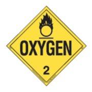 LABELMASTER 35ZL63 Oxygen Placard,10-3/4inx10-3/4in,Oxygen G2005145