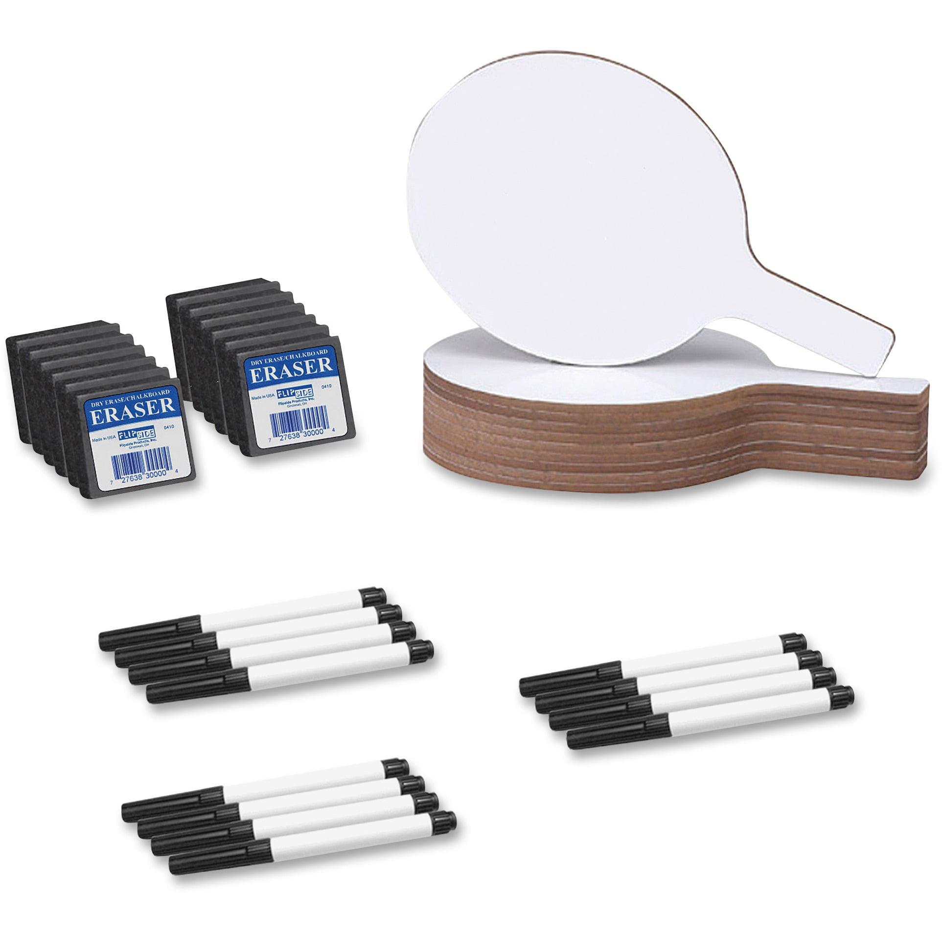 Flipside, FLP11232, Dry Erase Round Answer Paddle Set, 12 / Pack