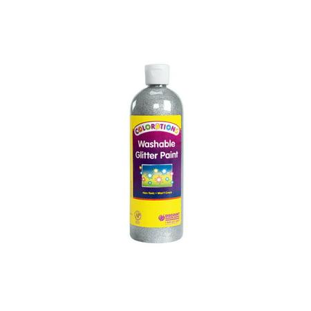 Colorations Washable Glitter Paint, Silver - 16 oz. (Item # CGPSI)