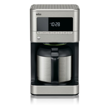 Braun Brew Sense 10-Cup Drip Coffee Maker with Thermal Carafe in Stainless Steel