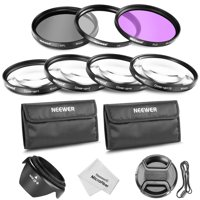 49mm Lens Filter and Close-up Macro Accessory Kit for Canon Nikon Sony Samsung