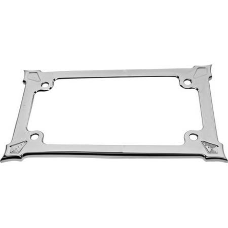 PREC. BILLET Darkside Billet License Plate Frame Chrome DRK-560-ALL ...