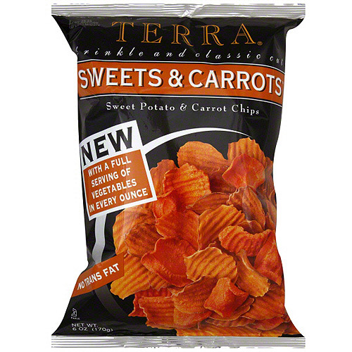 Terra Sweets & Carrots Sweet Potato And Carrot Chips, 6 oz (Pack of 12)