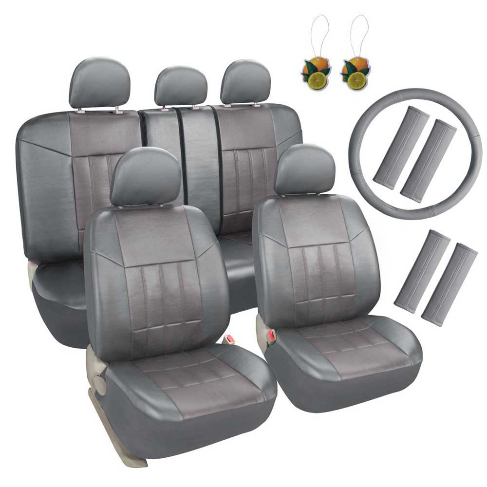 6 Pack Galaxy Car Seat Covers Full Set Combo with Steering Wheel//Seat Belt Cove