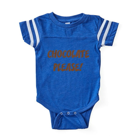 CafePress - FIN Chocolate Please - Cute Infant Baby Football Bodysuit