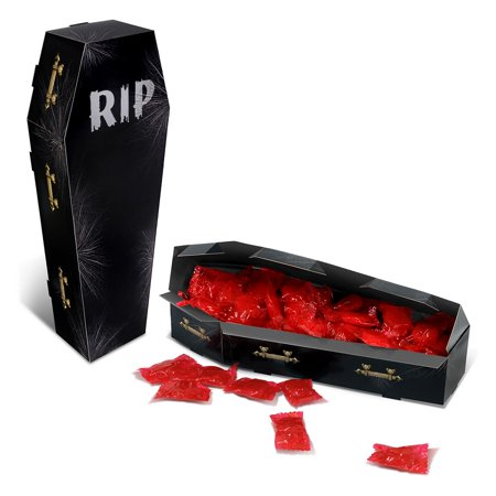 Club Pack of 12 Halloween Creepy Coffin Centerpiece Party Decorations 9.75