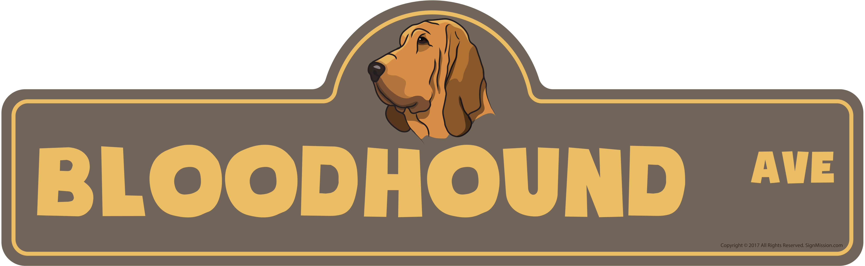 "Basset Hound Street SignIndoor//OutdoorDog Lover Funny Home Décor 18/"" Wide"