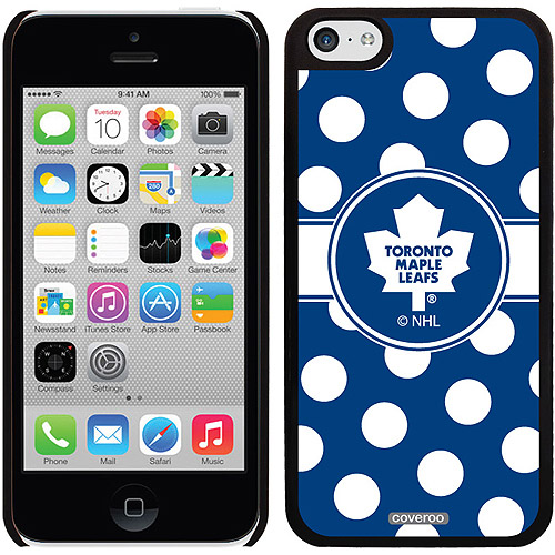 Toronto Maple Leafs Polka Dots Design on iPhone 5c Thinshield Snap-On Case by Coveroo