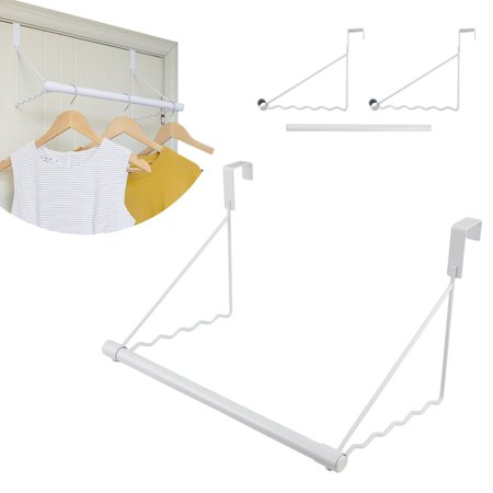 Kids Door Hanger (Over The Door Closet Rod, Magicfly Heavy-duty Over the Door Hanger Rack with Hanging Bar White )