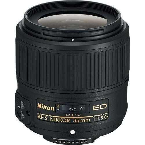 Nikon AF-S FX NIKKOR 35mm f/1.8G ED Fixed Zoom Lens with Auto Focus for Nikon DSLR Cameras International Version (No warranty)