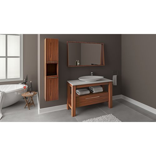 Union Rustic Eveleth Wood Veneer 47u0027u0027 Single Bathroom Vanity Set ...