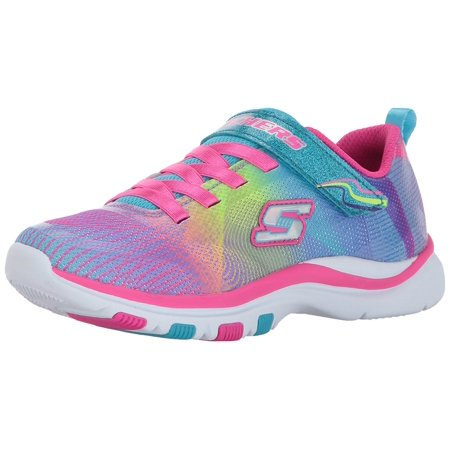 Skechers Kids Girls' Trainer Lite-Dash N'Dazzle Sneaker, Multi, 2.5 M US Little Kid ()