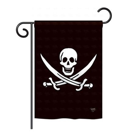 - Breeze Decor Calico Jack Rackham 2-Sided Vertical Flag