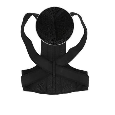 Yosoo Adjustable Back Posture Corrector Brace Back Shoulder Support Belt Posture Supports Correction - image 2 de 5