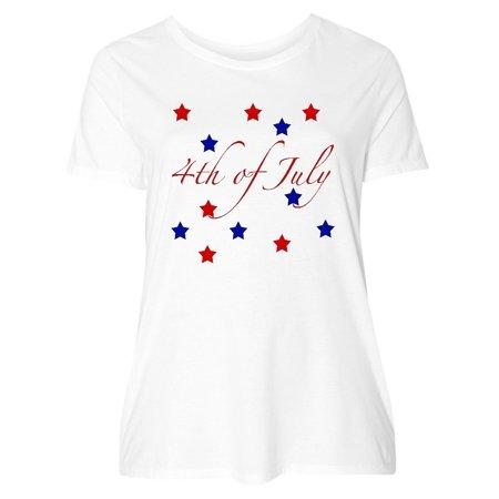 4th Of July Stars Women's Plus Size T-Shirt