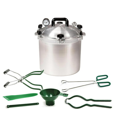All American 21.5 qt. Pressure Cooker w/2 Racks & Norpro 6pc Canning
