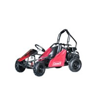 Coleman Powersports 100cc Gas Powered Go-kart - Black and Red