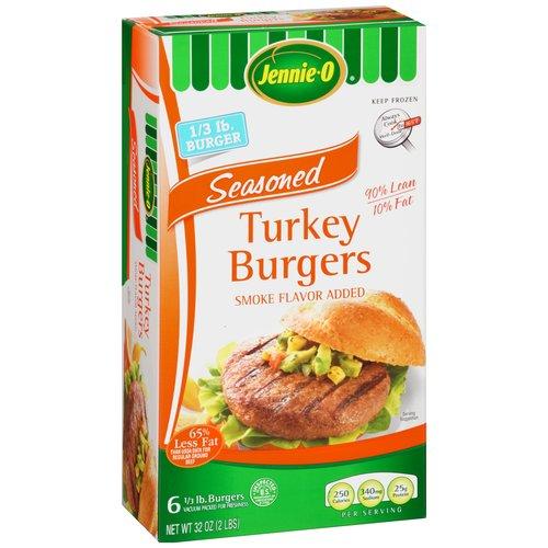 Jennie-O Seasoned Turkey Burgers, 6 count, 32 oz