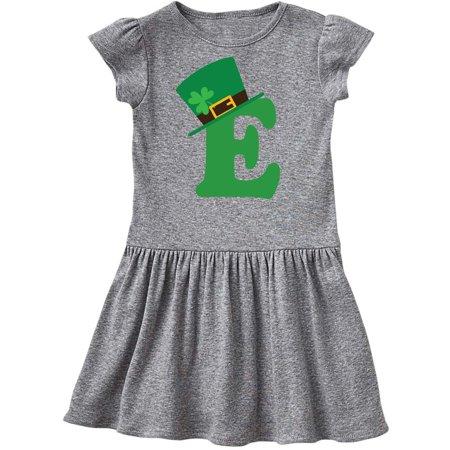 Irish St Patricks Day Letter E Monogram Toddler Dress - St Patricks Day Dresses