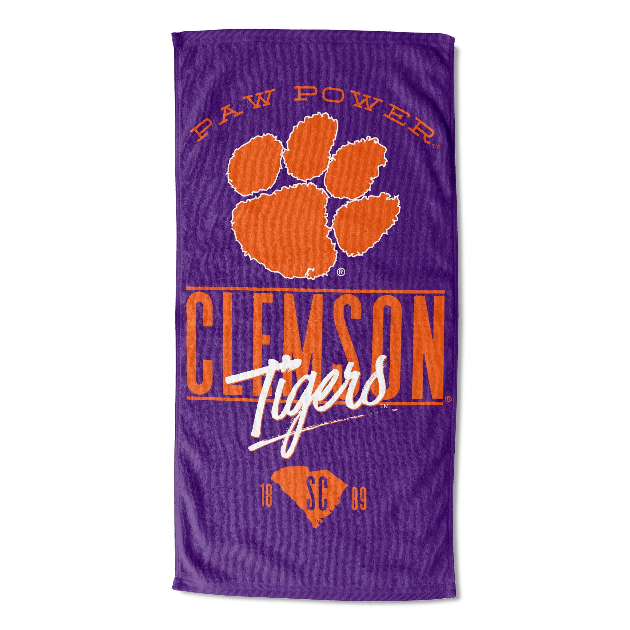 "NCAA Clemson Tigers 30"" x 60"" Beach Towel, 1 Each"