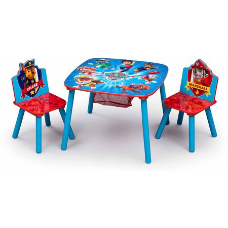 Nick Jr. PAW Patrol Wood Kids Storage Table and Chairs Set by Delta Children
